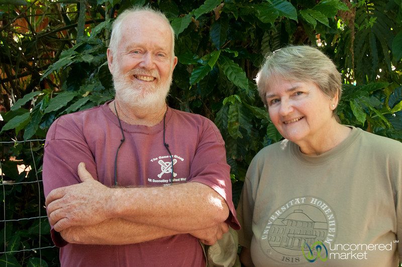 Cafe Cristina Owners - Ernesto and Linda Carmen, Costa Rica