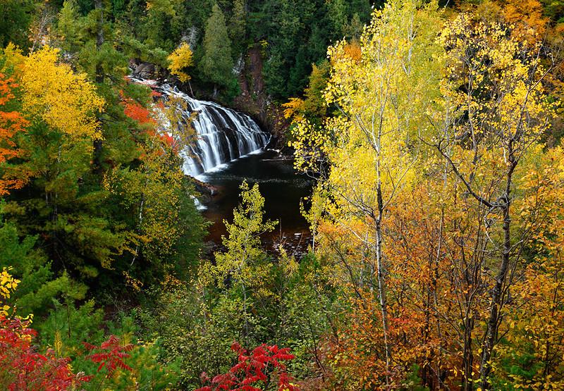 Autumn Ablaze - Lower Potato River Falls (Iron County - Wisconsin)