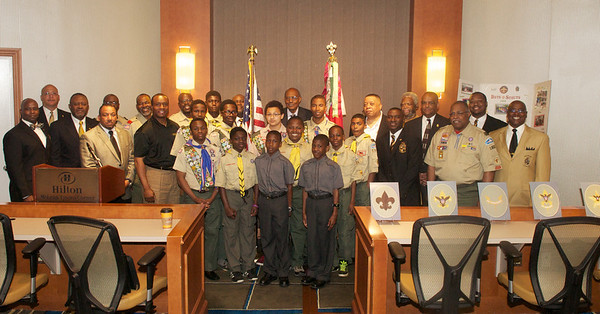 2014 Troop 1906 Ceremony & B&G Ball Committee Pic
