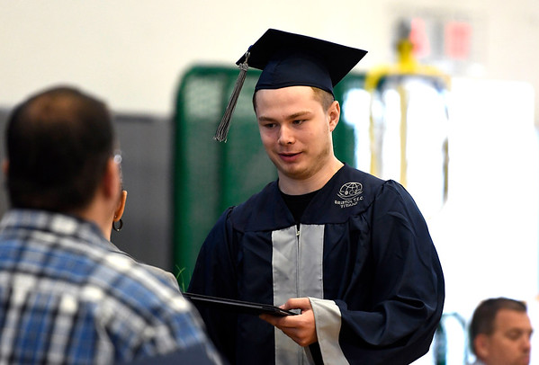 6/22/2018 Mike Orazzi | Staff Bristol Tech student Nick Dumont during the Bristol Tech graduationFriday morning at the Bristol Boys & Girls Club.