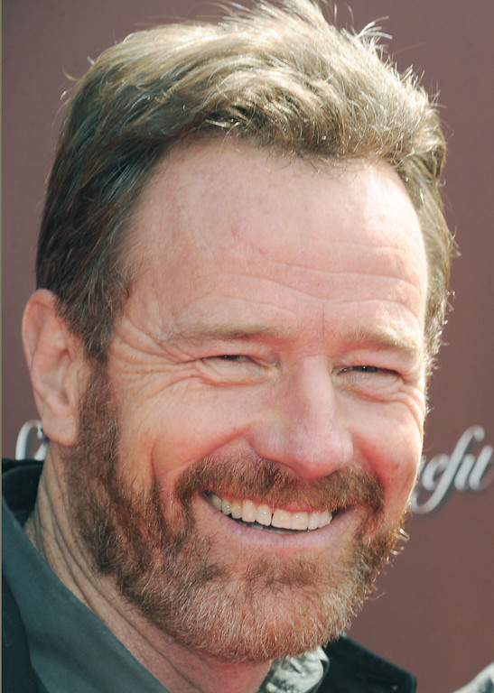 . Bryan Cranston arrives at The John Varvatos 9th Annual Stuart House Benefit, Sunday, March 11, 2012, at The John Varvatos boutique in Los Angeles. The John Varvatos Stuart House benefit hosts an outdoor charity concert and family day to benefit Stuart House, a program of the Rape Treatment Center at Santa Monica-UCLA Medical Center. (AP Photo/ Katy WInn)