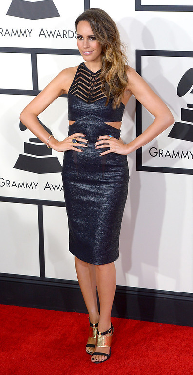 . Louise Roe arrives at the 56th Annual GRAMMY Awards at Staples Center in Los Angeles, California on Sunday January 26, 2014 (Photo by David Crane / Los Angeles Daily News)