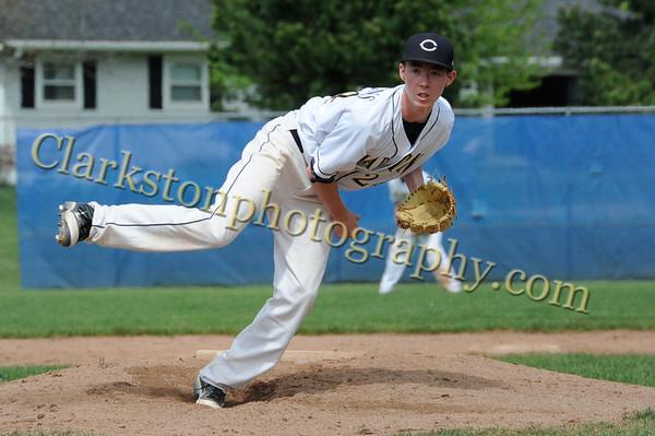 2012 Clarkston Varisty Baseball vs Lathrup