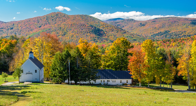Foliage View with Barns