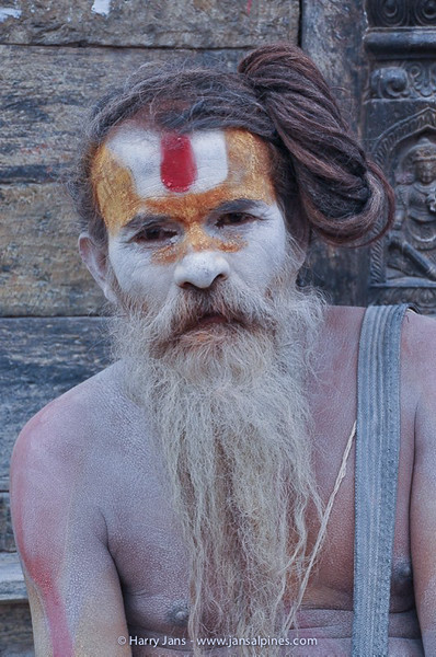 Sadhu (holy man in Nepal) at Pashupatinath temple