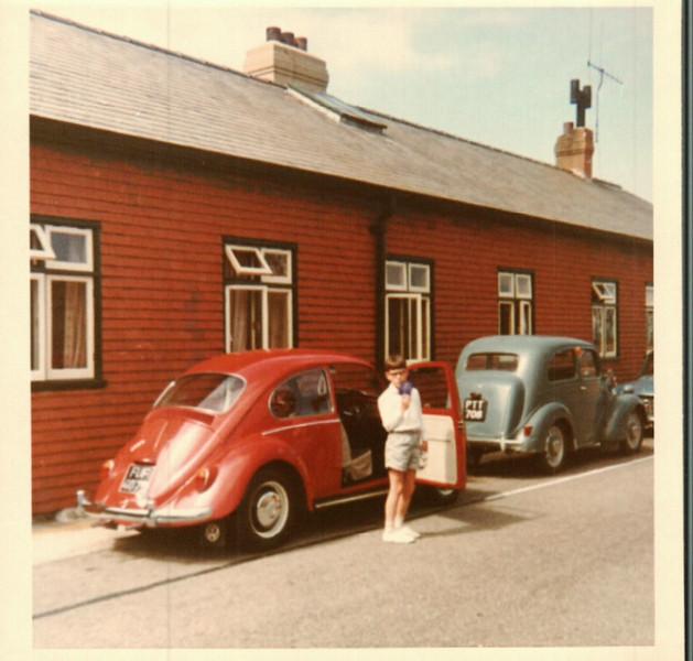 Paul next to John's car in Dorset
