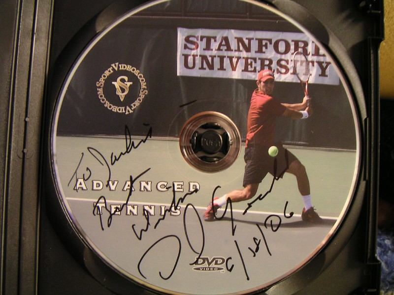 Stanford Tennis DVD - autograph by Coach Dick Gould