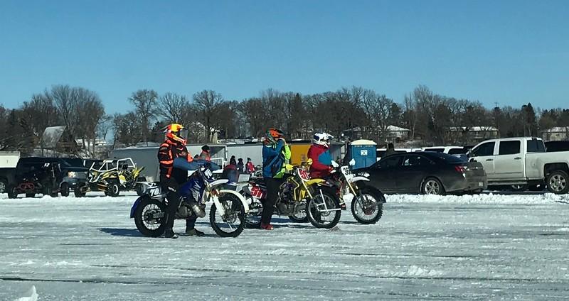 Bikes on ice.