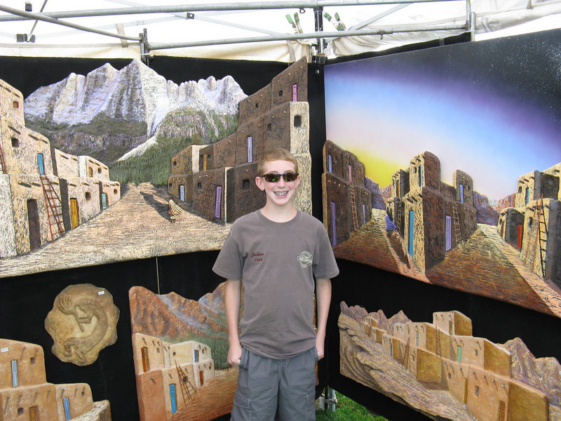Our visit to Santa Fe.  Well, actually at an arts & crafts sale in Woodland Park.