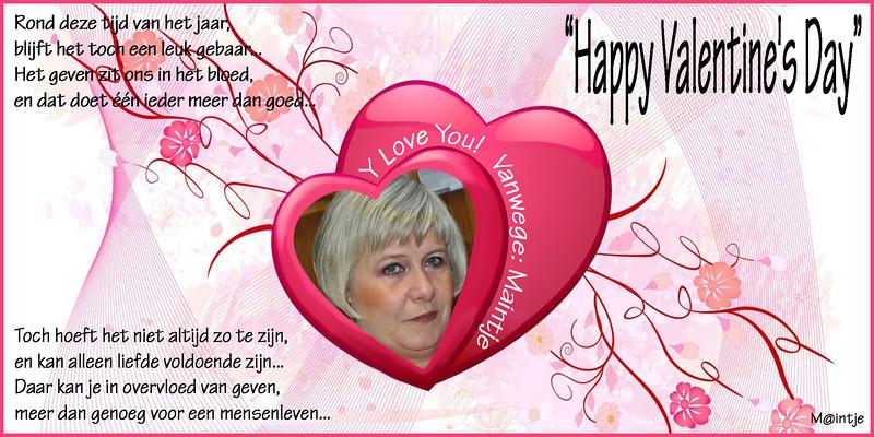 """Aan iedereen die dit leest een """"Happy Valentine's Day!.."""""""