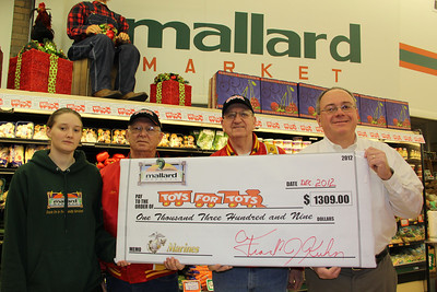 Toys For Tots Donation, Mallard's Market, Lehighton (12-22-2012)