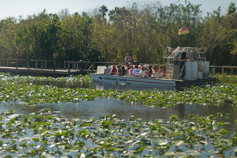 Air boat tours around Everglades National Park in Florida