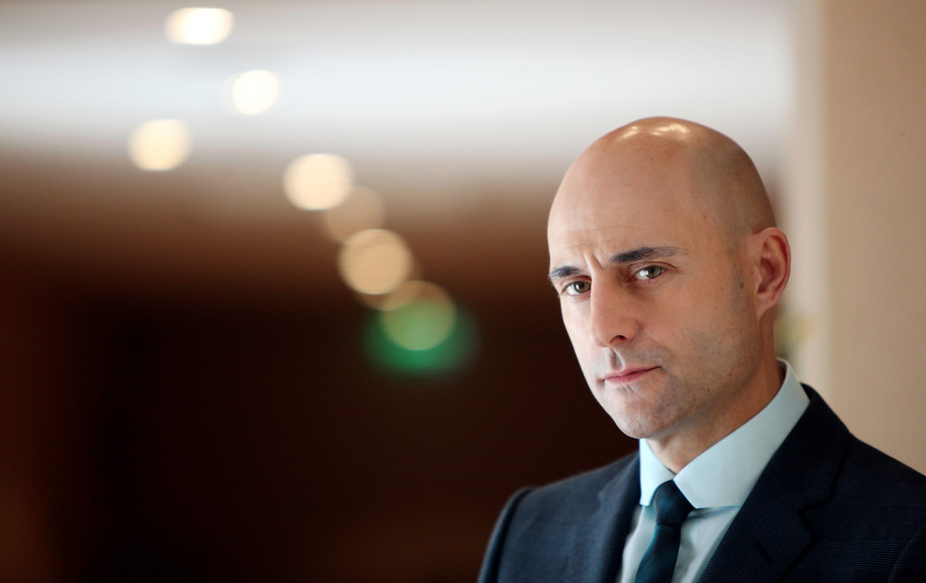 ". Actor Mark Strong poses for a portrait, while promoting the film ""Robin Hood\"", at the 63rd international film festival, in Cannes, southern France, Wednesday, May 12, 2010. (AP Photo/Mark Mainz)"