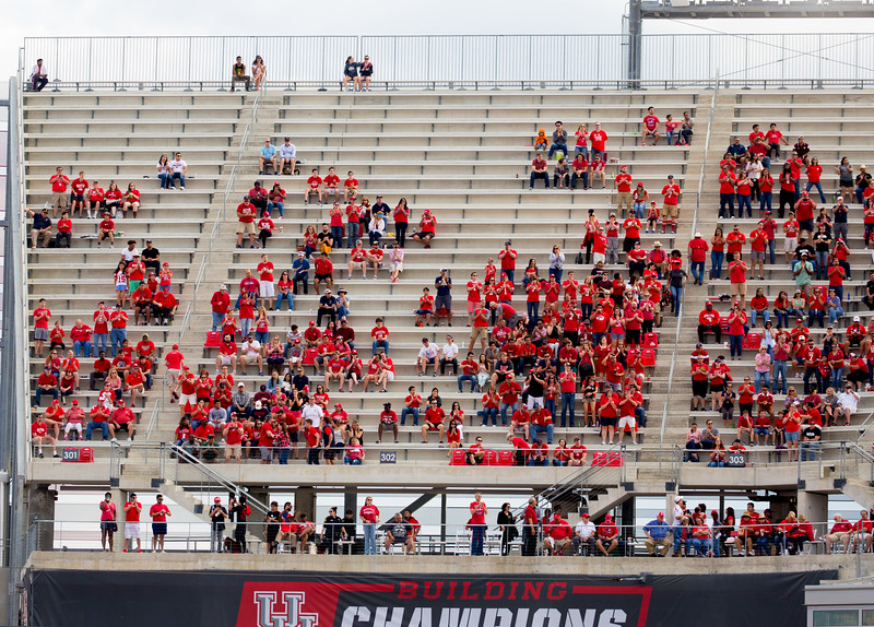 UH fans in the high-altitude seats