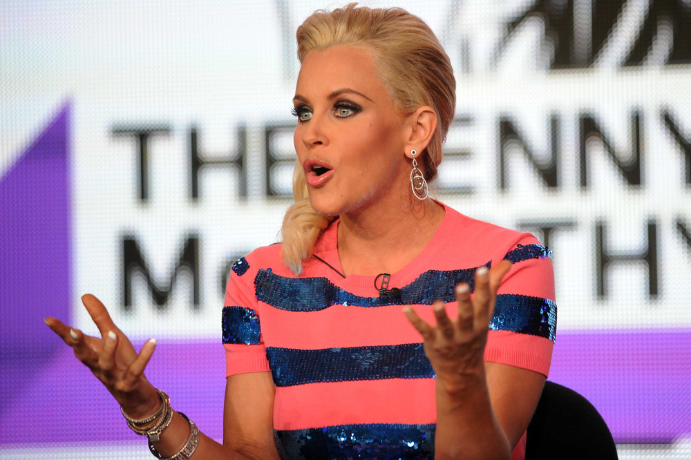 Description of . Jenny McCarthy speaks during VH1 Winter TCA Tour at the Langham Huntington Hotel on Saturday, Jan. 5, 2013, in Pasadena, Calif. (Photo by Richard Shotwell/Invision/AP)