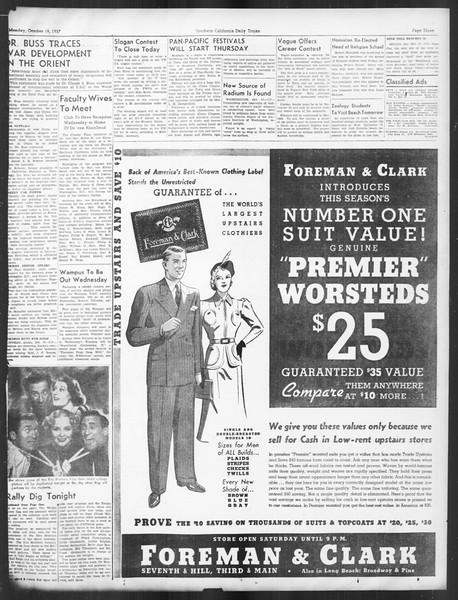 Daily Trojan, Vol. 29, No. 22, October 18, 1937