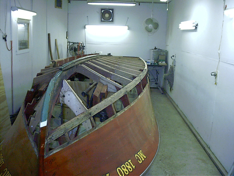Chine epoxied in place starboard side.