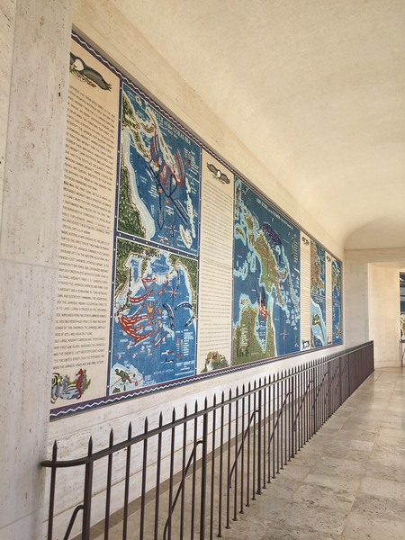 Inside the National Memorial Cemetery of the Pacific viewing the galleries