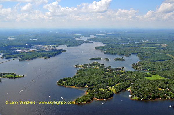 Aerial photos of Lake Anna, Virginia
