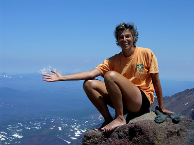 Middle Sister camp & climb, July 2006