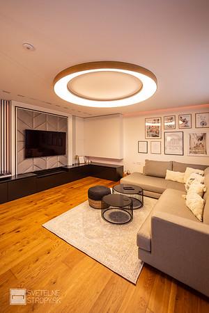 Projekt rodinný dom s polozapustenými prstencovými svetenými stropmi LOOP F
