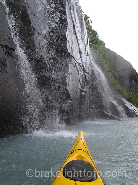 Waterfall on Portage Lake