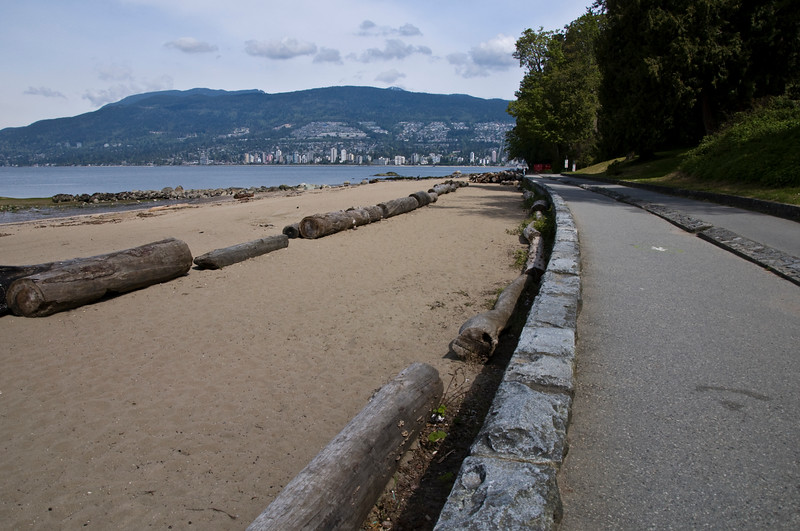 One of Vancouvers beaches we passed on our Stanley Park bike ride.