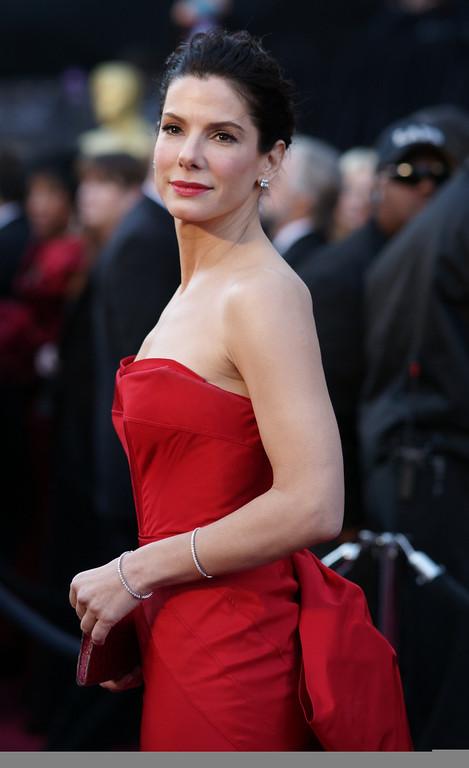 . Sandra Bullock arrives for the 83rd Academy Awards  at the Kodak Theater in Hollywood, California on February 27, 2011. (David Crane/Los Angeles Daily News)