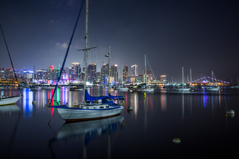 Sail Boat in San Diego Harbor