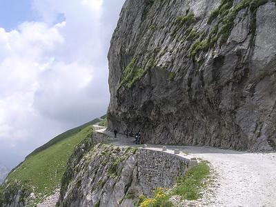 overhang nabij Col des Seigneurs