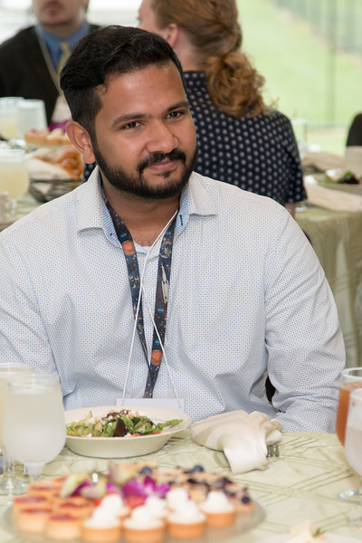 "Jitin Krishnan (2017 awardee) -- An award luncheon, ""Dr. John Mather Nobel Scholars Program Award"", as part of the National Space Grant Foundation. College Park Aviation Museum, College Park, MD, August 3, 2018."