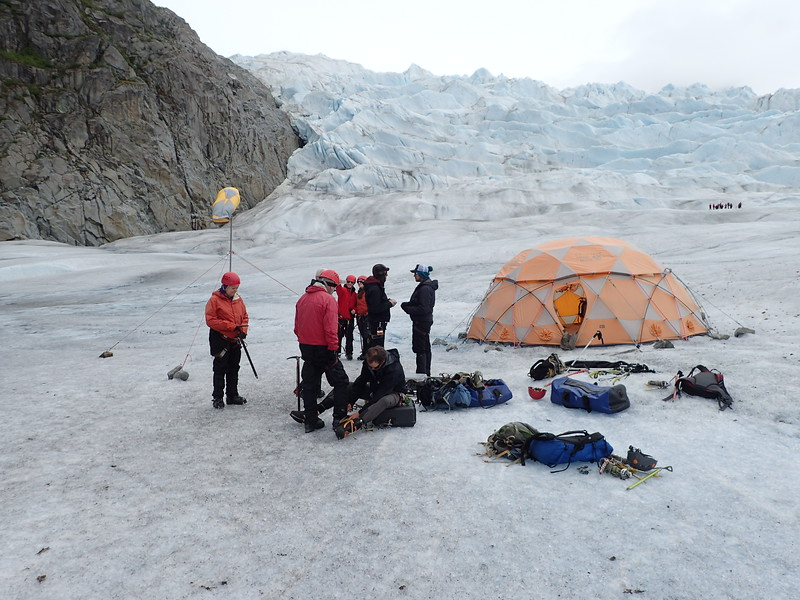 Base Camp for Ice Climbing.