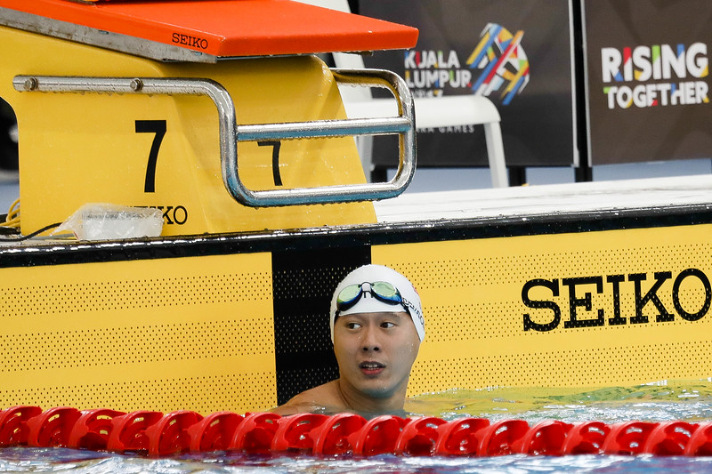 PARA SWIMMING - BENSON SENG KIONG TAN in action & representing Singapore in Men's 100 LC Meter Freestyle S14 Finals at Aquatics Centre, KL on September 19th, 2017 (Photo by Sanketa Anand)