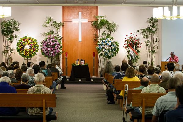 Ronald Leialoha Yamada Services and Burial (12/17/14)