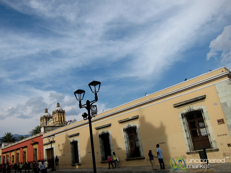 Oaxaca Street Scene and Clouds - Mexico