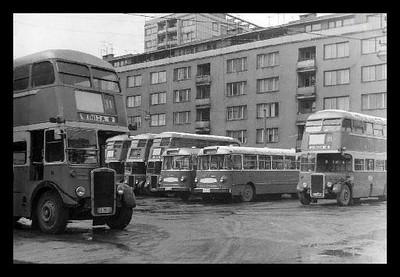 Stajalište autobusa na mjestu današnje pijace