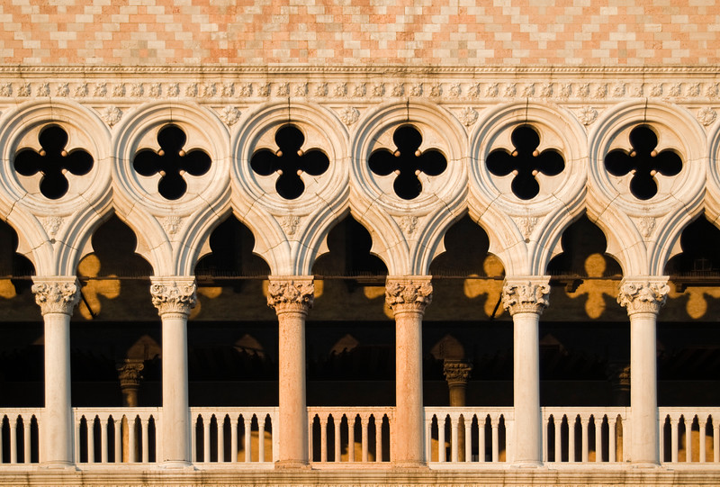 Gothic Facade of Doge's Palace, Venice, Italy