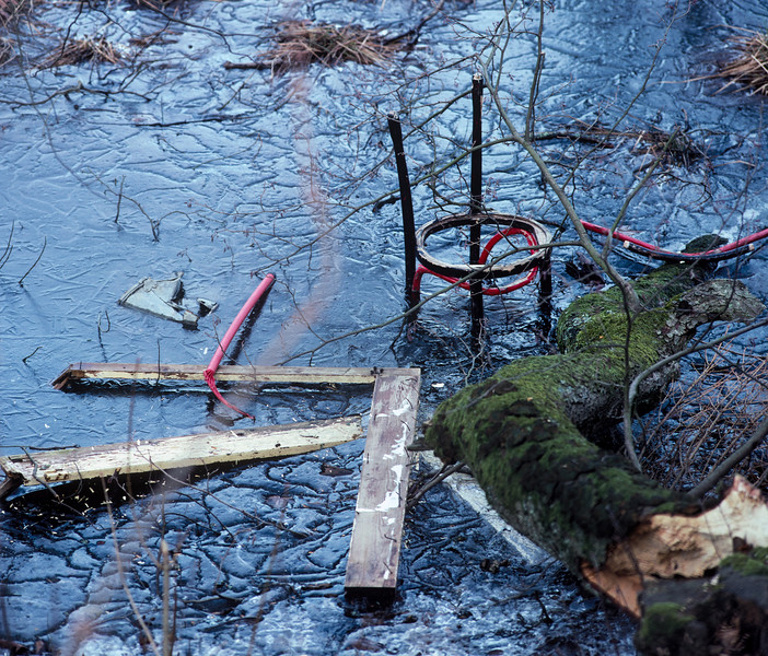 Frozen Lake, Växjö, Sweden, 1991