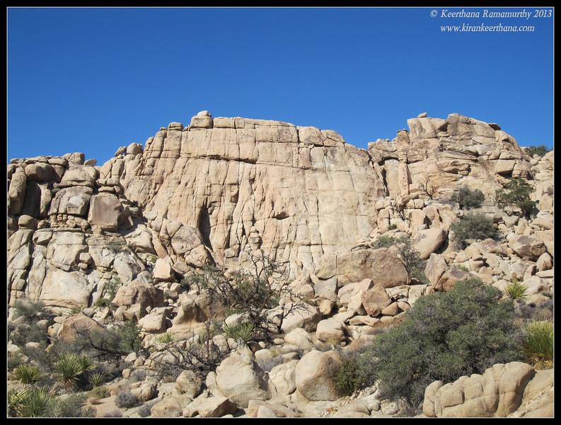 Burrito rock at Joshua Tree National Park, Riverside County, California, May 2013