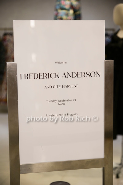 Designer Frederick Anderson & City Harvest at Saks