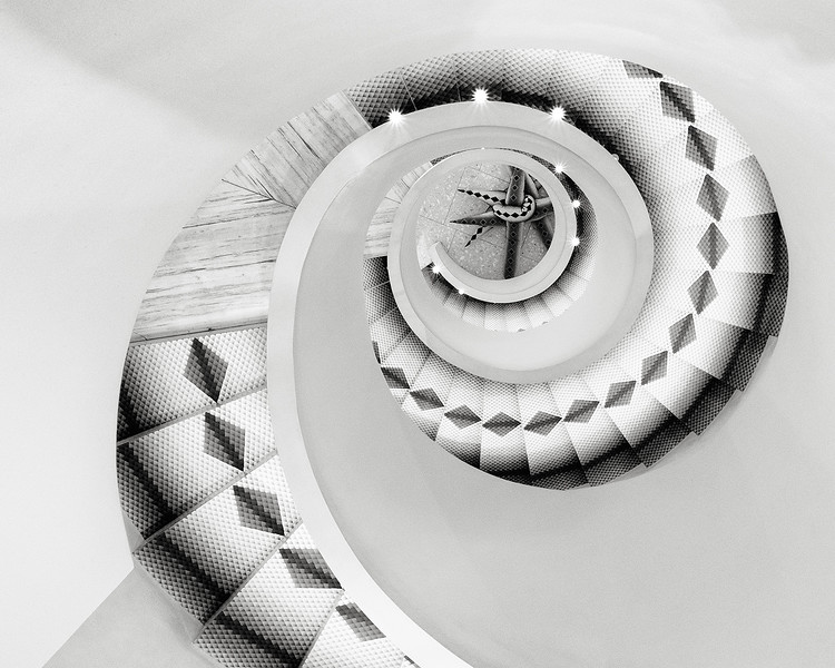 staircase at Barney's New York