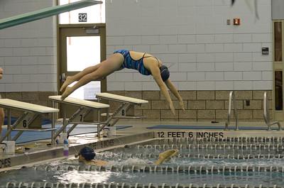 Oswego Girls Swimming and Diving Team Vs Rosary 2013
