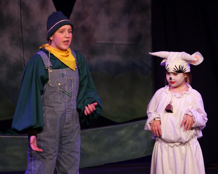 Jack & the Beanstalk, 19 February 2010: Donna Wilcox as Jack & Kay Horak as Milky White.