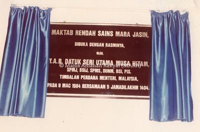 1984 - PERASMIAN MRSM JASIN