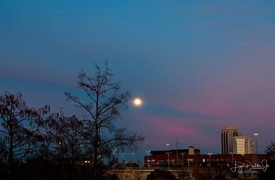 Houston Skyline -  January Blue Moon