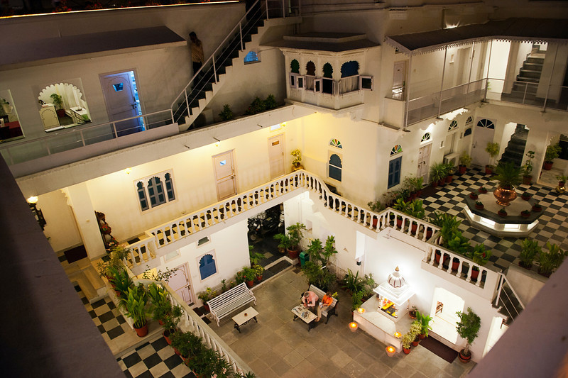 Jagat Niwas Palace Hotel from the rooftop restaurant