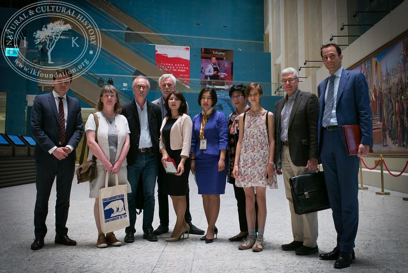 "Swedish representatives visiting The National Museum of Kazakhstan as part of the seminar ""The Linnaeus Apostles Bridge Builder Expeditions - Sweden, Kazakhstan, Kyrgyzstan & Russia. Including Launch of The Explorer's Field Guide""."