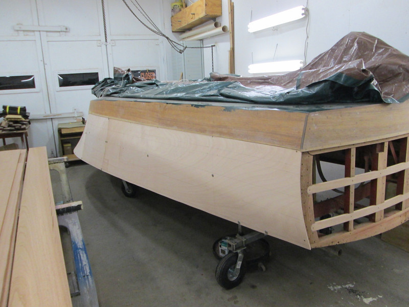 Rear starboard view of plywood fit.