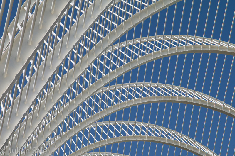 Interesting architecture at City of Arts & Sciences in Valencia Spain
