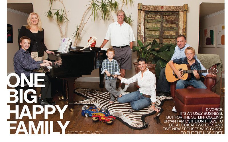 'One Big Happy Family' two-page spread in  November 2011 issue of Dallas Child